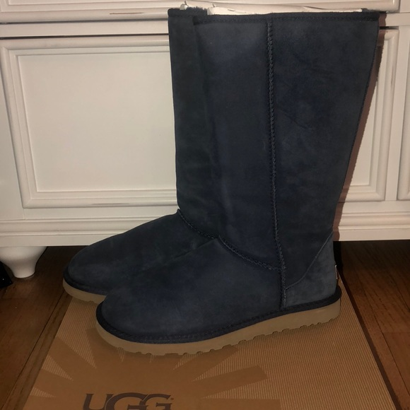 NEW Women's Classic Tall Ugg Boots Navy Blue